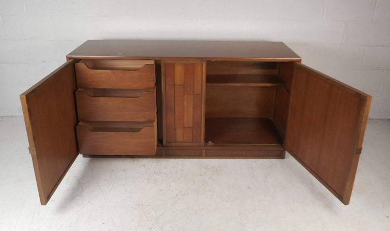 Late 20th Century Mid-Century Modern Brutalist Front Credenza For Sale