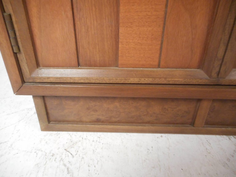 Mid-Century Modern Brutalist Front Credenza For Sale 2