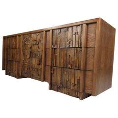Mid-Century Modern Brutalist Lane Dresser