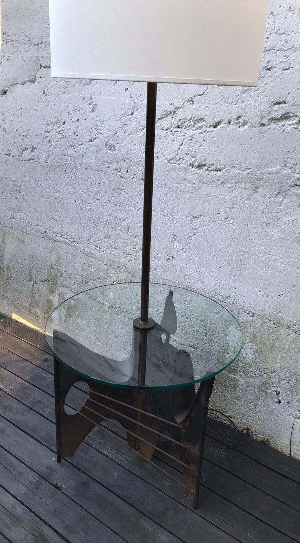 Mid-Century Modern Brutalist Metal Floor Lamp by Richard Barr for Laurel, 1960s For Sale 1