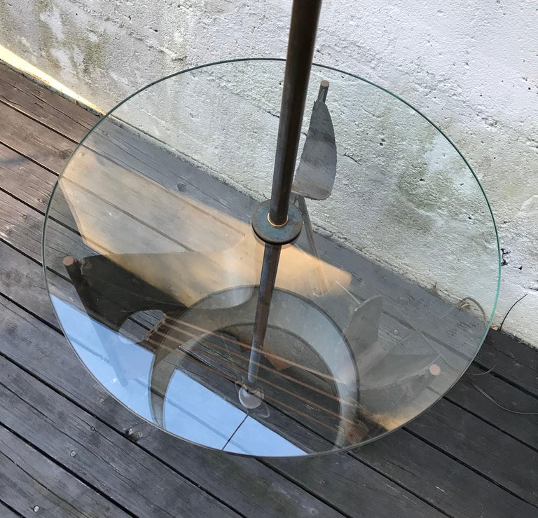 Mid-Century Modern Brutalist Metal Floor Lamp by Richard Barr for Laurel, 1960s For Sale 3