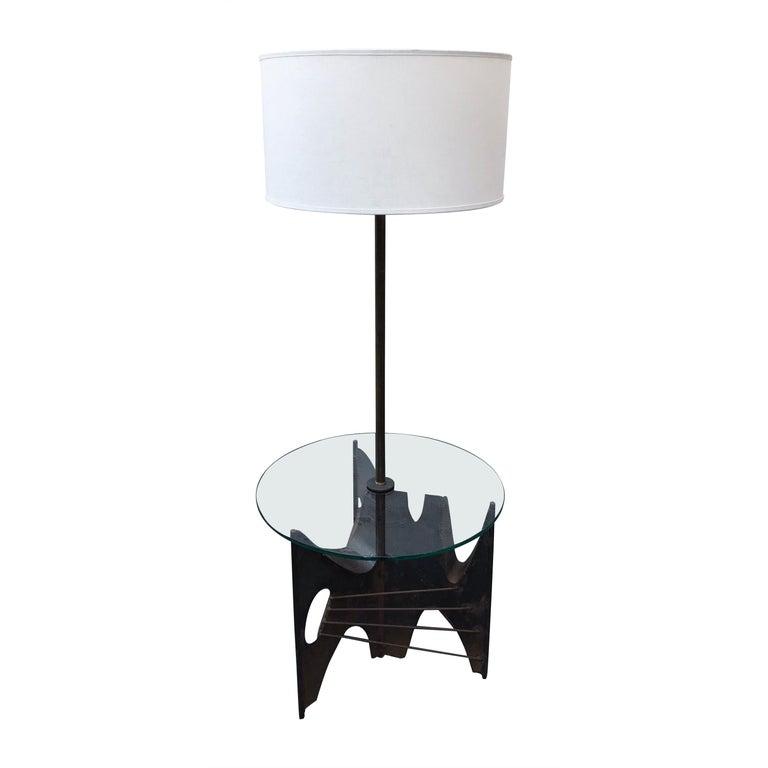 Mid-Century Modern Brutalist Metal Floor Lamp by Richard Barr for Laurel, 1960s For Sale