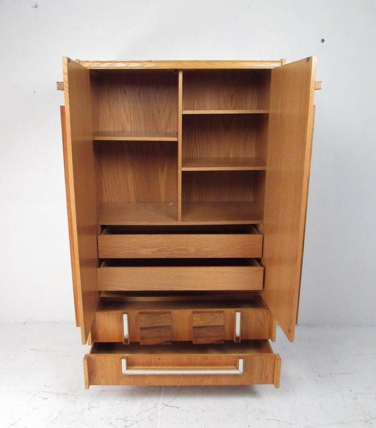Modern Bedroom Furniture Sale: Mid-Century Modern Brutalist Oak And Rosewood Bedroom Set