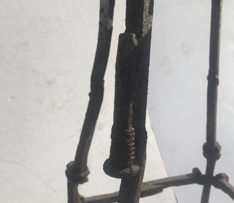 Welded Mid-Century Modern Brutalist Railroad Spikes Chair Sculpture For Sale