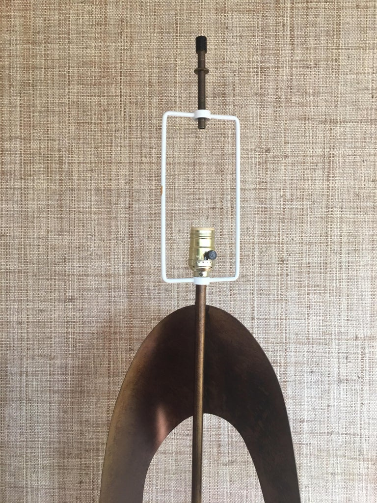 Mid-Century Modern Brutalist Sculptural Table Lamp by Harry Balmer for Laurel For Sale 10