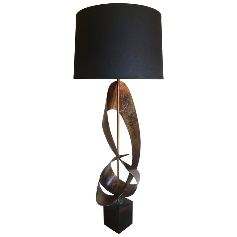 Mid-Century Modern Brutalist Sculptural Table Lamp by Harry Balmer for Laurel For Sale
