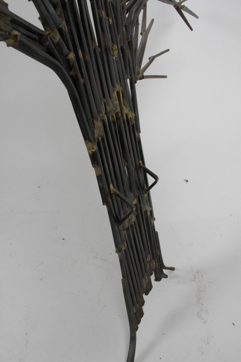 Mid-Century Modern Brutalist Tree Nail Sculpture for the Wall by Marc Weinstein 5