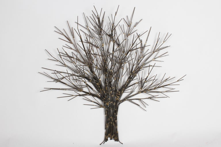 American Mid-Century Modern Brutalist Tree Nail Sculpture for the Wall by Marc Weinstein