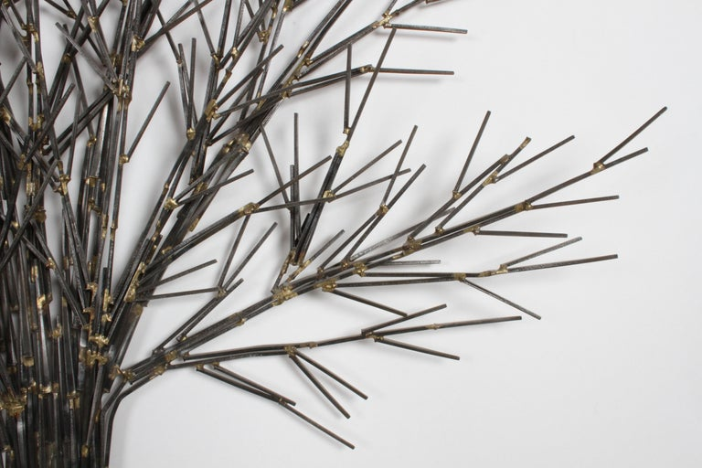 Mid-Century Modern Brutalist Tree Nail Sculpture for the Wall by Marc Weinstein 1