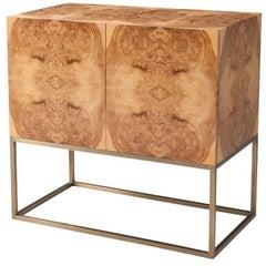 Mid-Century Modern Burl Cabinet
