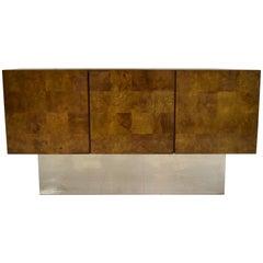 Mid-Century Modern Burl Wood Credenza by Thayer Coggin
