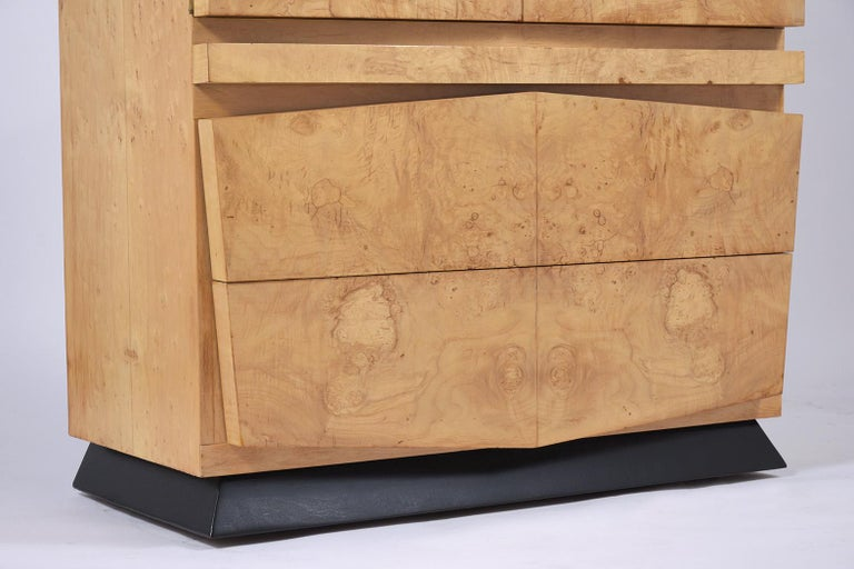 Modern Burled Chest of Drawers For Sale 4