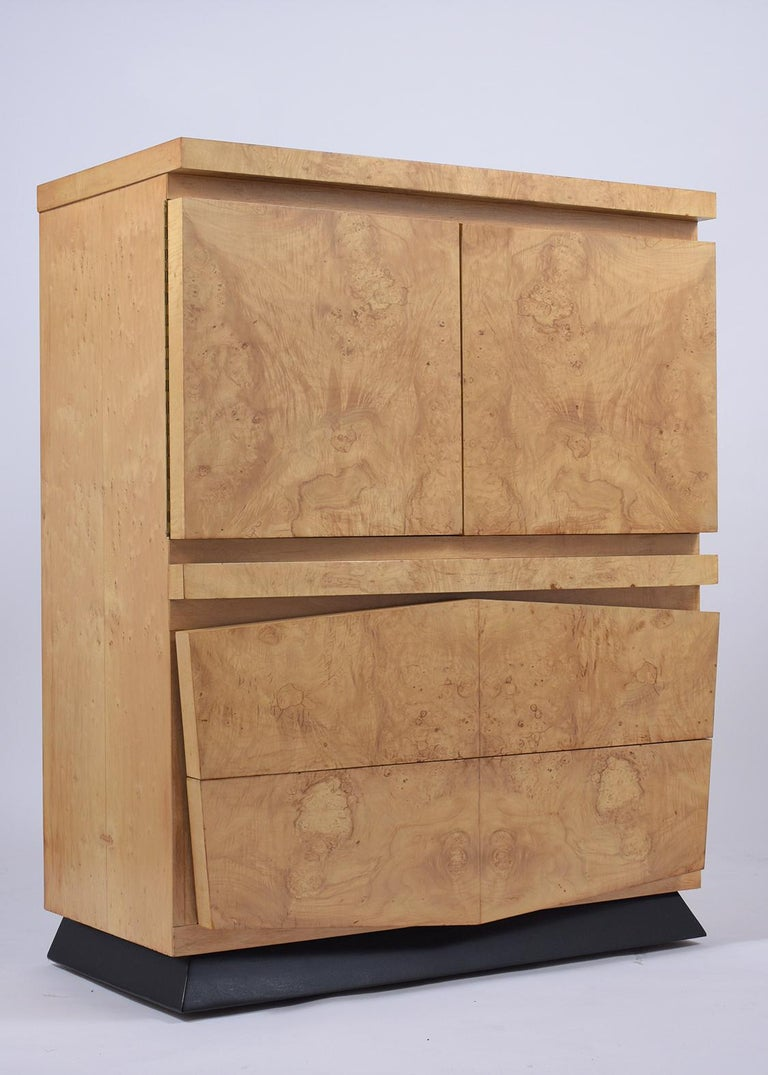 Modern Burled Chest of Drawers For Sale 1