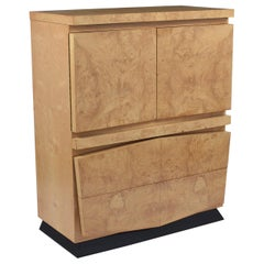 Modern Burled Chest of Drawers