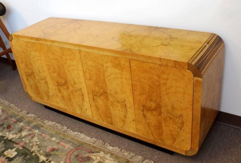 Mid-Century Modern Burled Olivewood Ebony Credenza Henredon Scene 2, 1970s For Sale 2