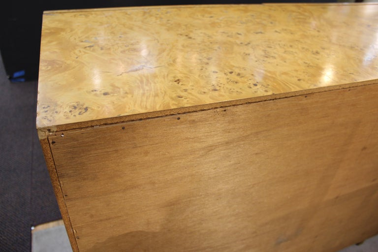 Mid-Century Modern Burlwood Credenza Attributed to Milo Baughman For Sale 12