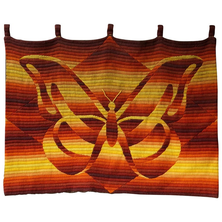 Mid-Century Modern Butterfly Tapestry For Sale