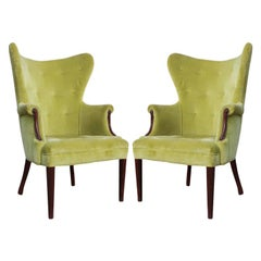 Mid-Century Modern Butterfly Wingback Chairs
