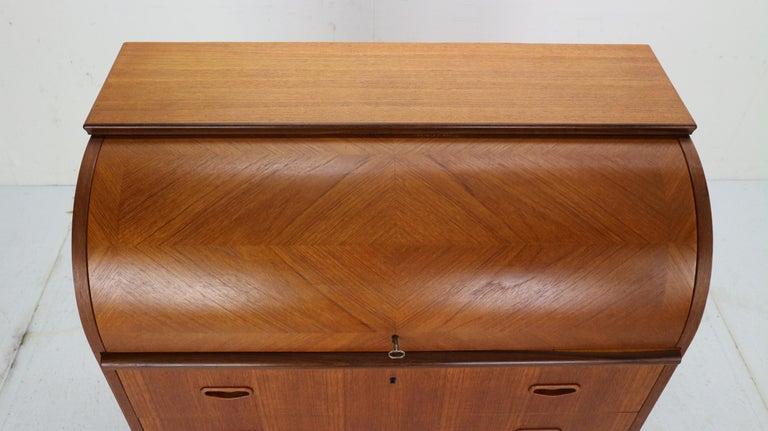 Mid-Century Modern by Egon Ostergaard Rolltop Secretary Desk, 1970 For Sale 6