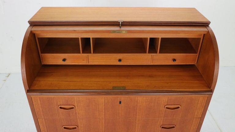 Mid-Century Modern by Egon Ostergaard Rolltop Secretary Desk, 1970 For Sale 11