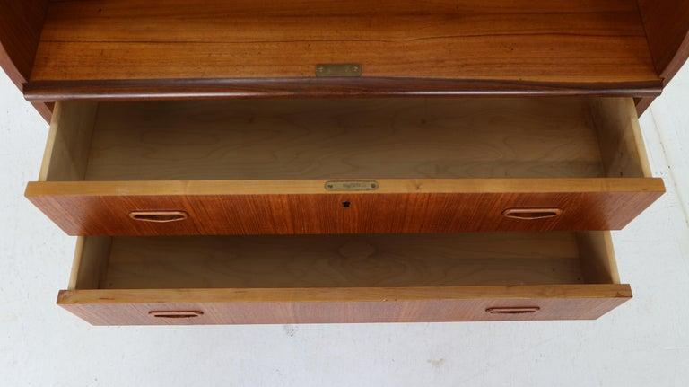 Mid-Century Modern by Egon Ostergaard Rolltop Secretary Desk, 1970 For Sale 13