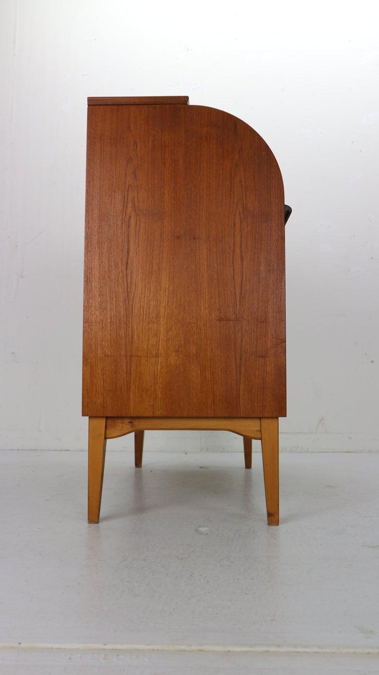 Mid-Century Modern by Egon Ostergaard Rolltop Secretary Desk, 1970 For Sale 2