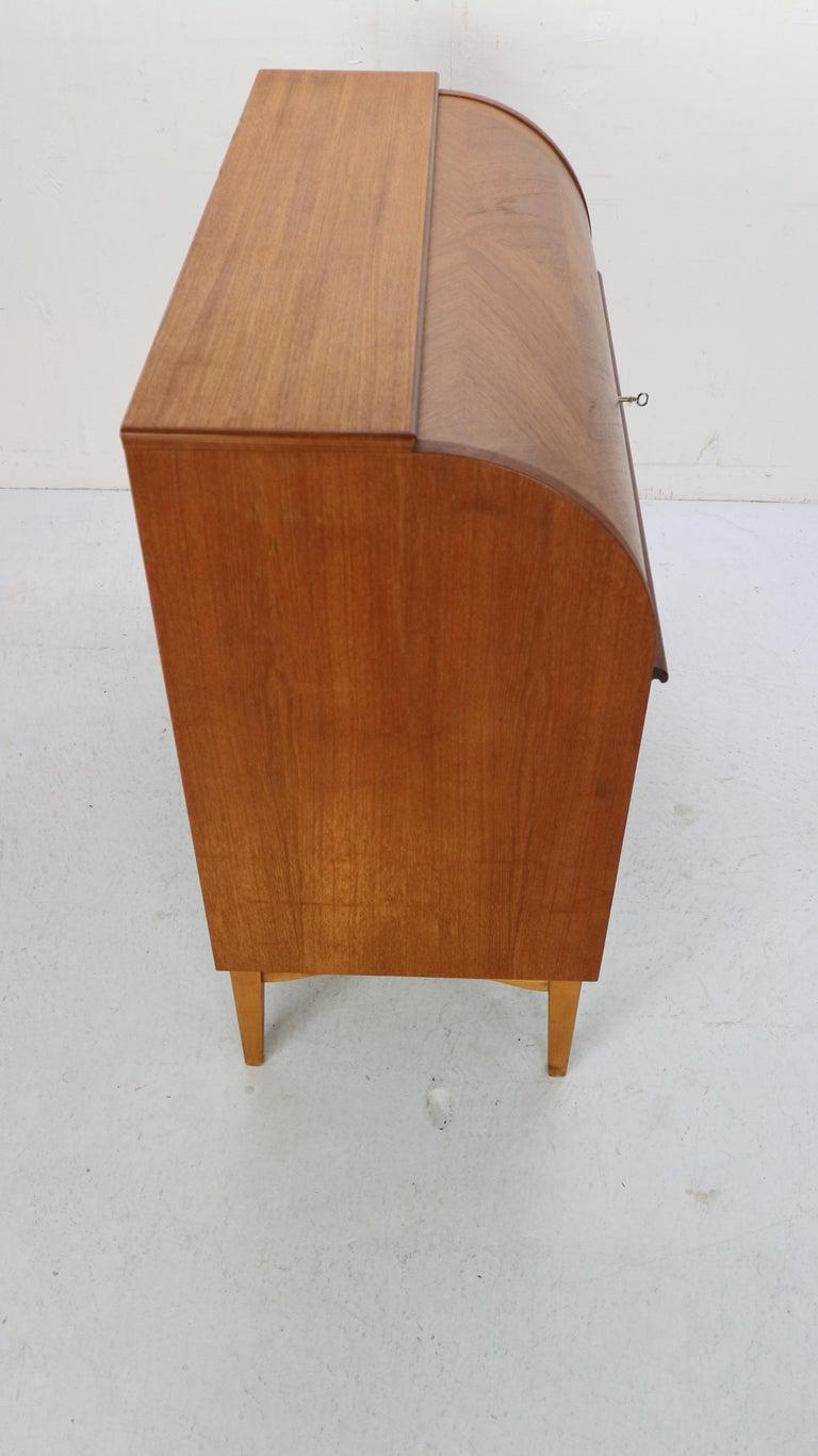 Mid-Century Modern by Egon Ostergaard Rolltop Secretary Desk, 1970 For Sale 3