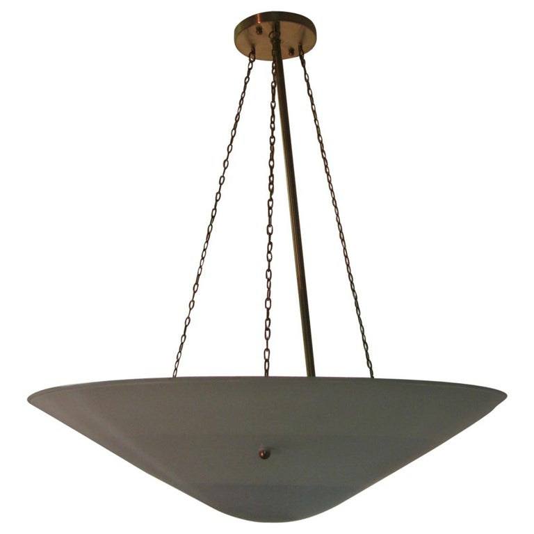 Mid-Century Modern C1946 Blue Cone Pendant Lamps 8 Available For Sale