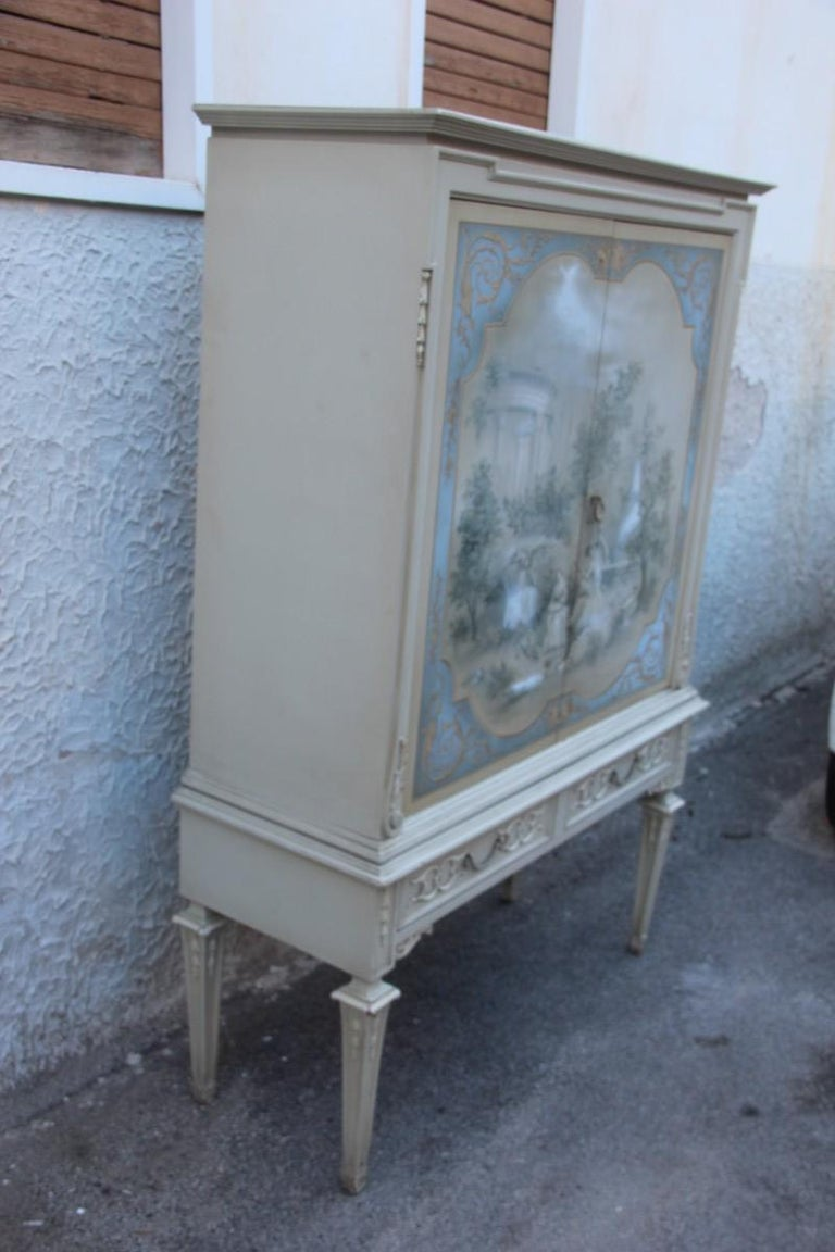 Mid-Century Modern Cabinet Adam George III Lacquered Style Italian Design, 1962 For Sale 11
