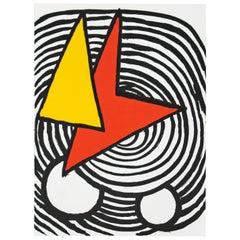 Mid-Century Modern Calder Lithograph from Derriere Le Miroir 1963 Unframed