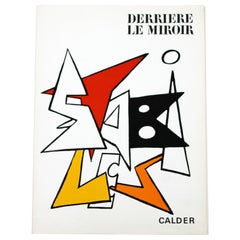 Mid-Century Modern Calder Stabiles Paper Art Book Suite of 8 Lithographs, 1970s