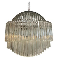 Mid-Century Modern Camer Glass Circular Shaped Chandelier