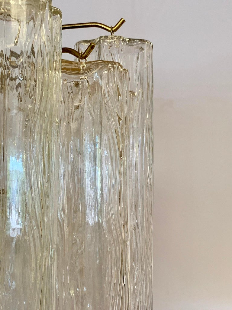 Mid-Century Modern Glass Murano Tubular Cylinder Chandelier Made in Italy For Sale 1