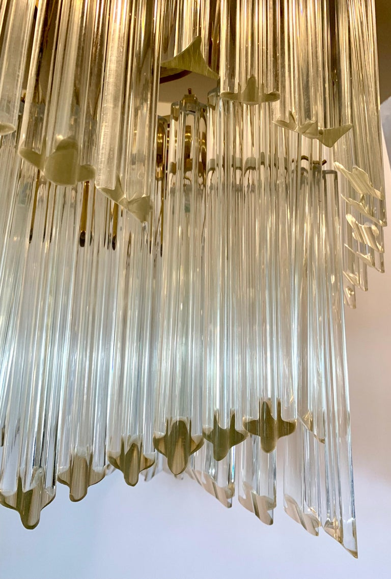 Late 20th Century Mid-Century Modern Camer Murano Glass Chandelier For Sale