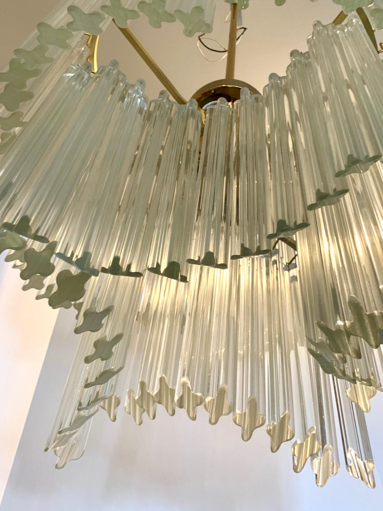 Mid-Century Modern Camer Murano Glass Chandelier For Sale 2