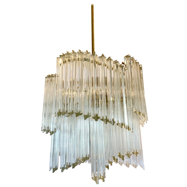 Mid-Century Modern Camer Murano Glass Chandelier For Sale