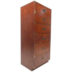 Mid-Century Modern Campaign Lingerie Chest by Dixie