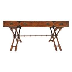 Mid-Century Modern Campaign Style Desk by Brandt Furniture, circa 1960s