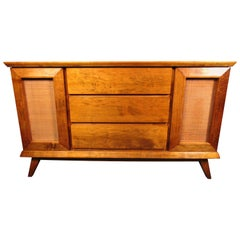 Mid-Century Modern Cane Door Server