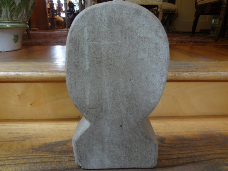 Mid-Century Modern Carved Stone Sculpture For Sale 3