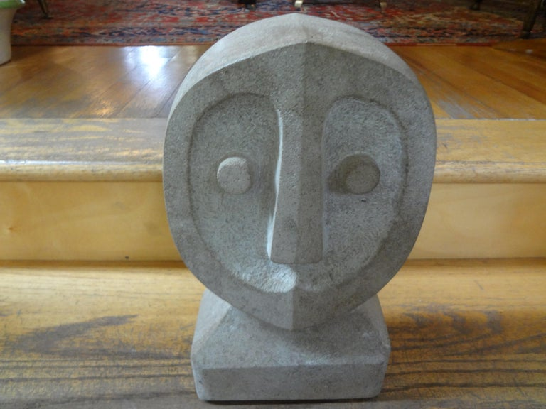 Mid-Century Modern Carved Stone Sculpture For Sale 4