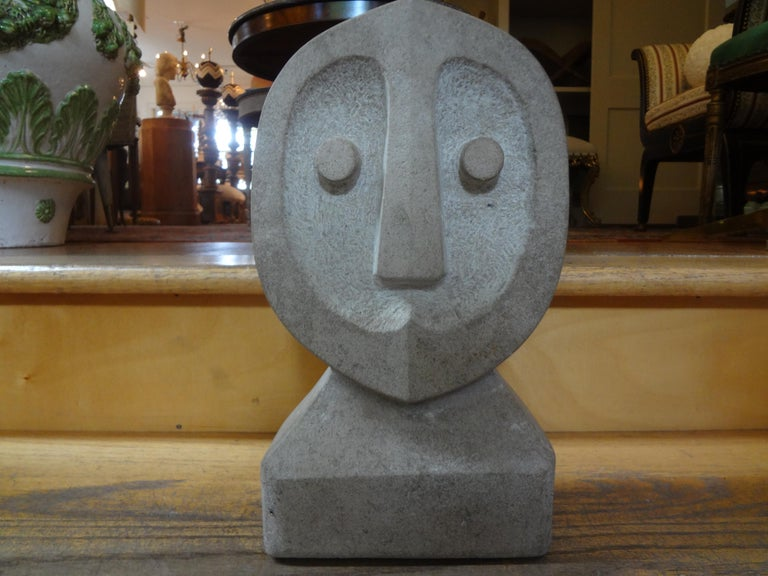 Mid-Century Modern Carved Stone Sculpture For Sale 5