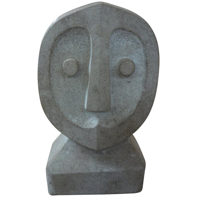 Mid-Century Modern Carved Stone Sculpture For Sale