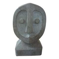 Mid-Century Modern Carved Stone Sculpture
