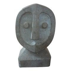Mid-Century Modern Carved Stone Sculpture