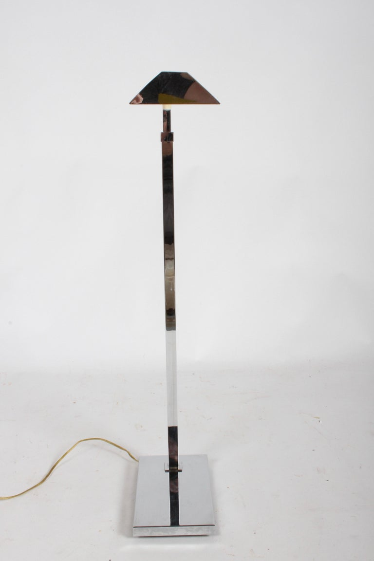 Mid-Century Modern Casella Chrome Adjustable Floor Reading Lamp For Sale 5