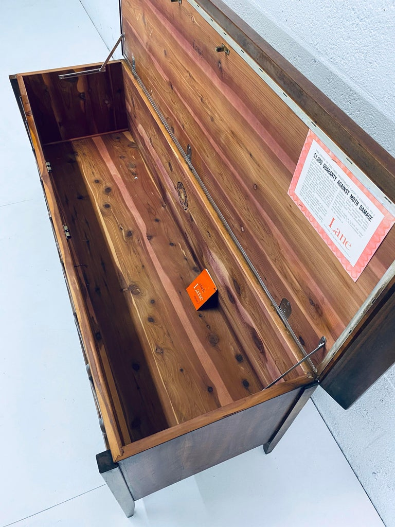 Mid-Century Modern Cedar Lined Chest by Lane For Sale 5