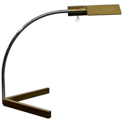 Mid-Century Modern Cedric Hartman Chrome Brass Lucite Adjustable Desk Lamp 1960s