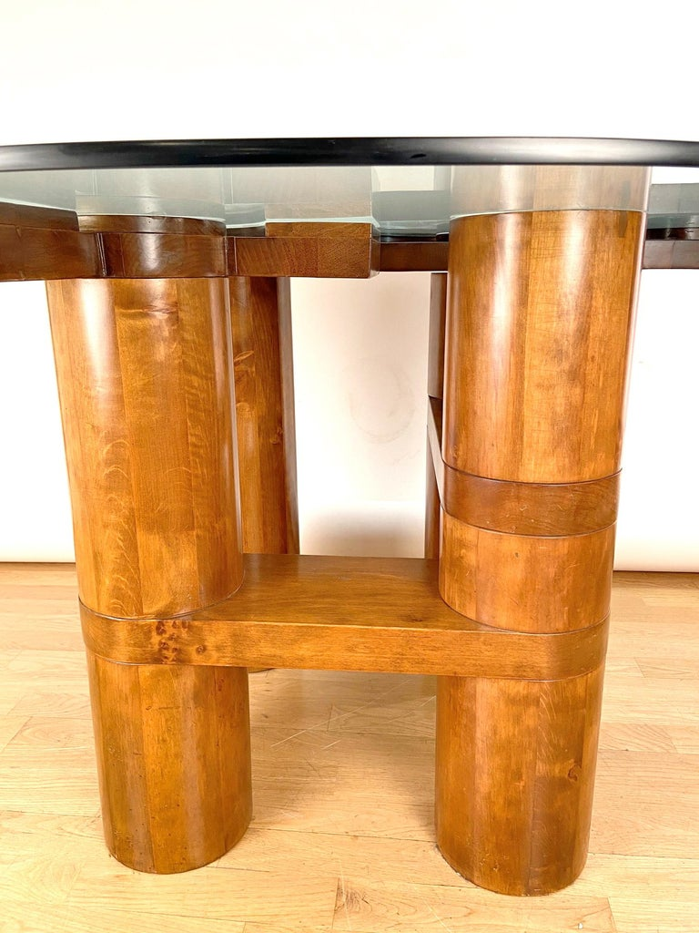 Mid-Century Modern Center Hall-Dining Walnut Table by Nerone & Patuzzi NP Group For Sale 6