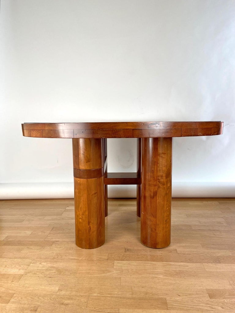 Mid-Century Modern Center Hall-Dining Walnut Table by Nerone & Patuzzi NP Group For Sale 1